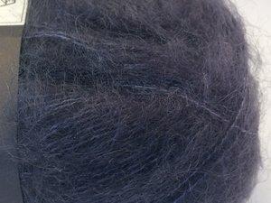Isager silk mohair blåsvart