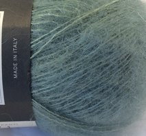 Isager silk mohair grön