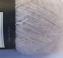 Isager silk mohair vit